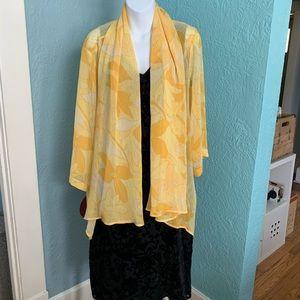 Piccadilly Chrysanthemum Over Blouse XL NWT